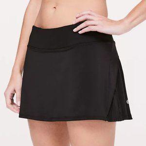 NWT Lululemon Play Off Pleats Black Skirt 6